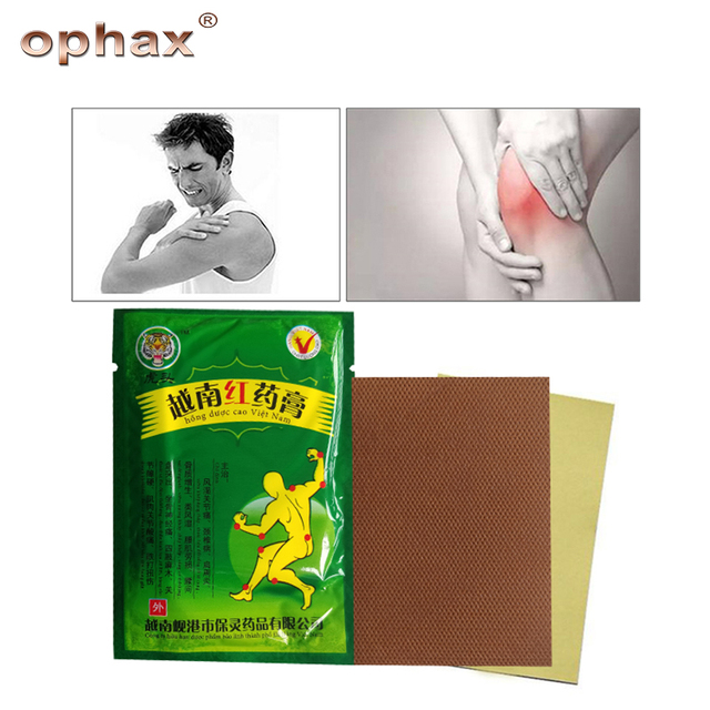 OPHAX 32pcs/4bags Red tiger balm Chinese medical plasters for rheumatoid arthritis muscle back joint pain relieving patch cheap