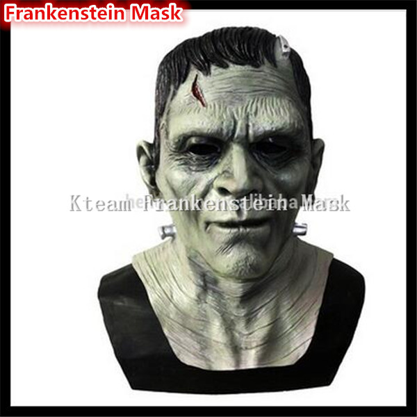 2017 Top Grade 100% Latex LATEX MASK ZOMBIE MOVIE GAME COSPLAY Frankenstein Mask Old Man Mask Free size Free shipping DHL