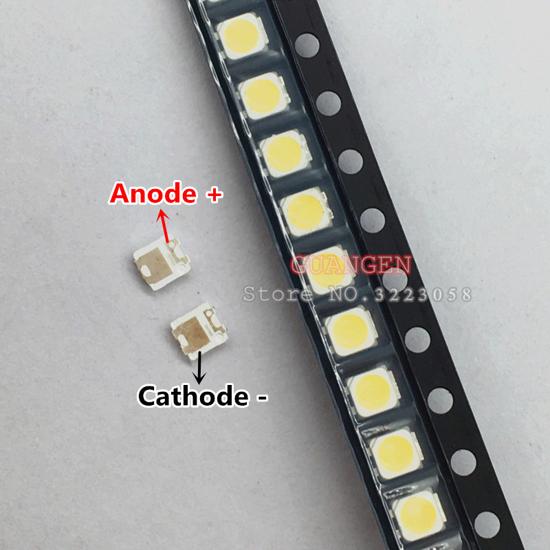 1000PCS FOR SAMSUNG 2828 LED Backlight TT321A 1.5W-3W With Zener 3V 3228 2828 Cool White LCD Backlight For TV TV Application