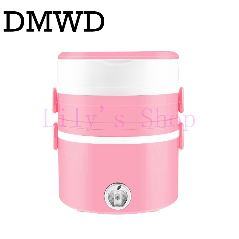 Three layers electric lunch boxes picnic bento heating insulation mini rice cooker dishes steamer warm food container EU US plug new portable handle electric lunch boxes three layers pluggable insulation heating lunch box hot rice cooker electric container
