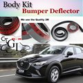 For Mazda CX3 CX-3 CX 3 Akari Bumper Lip / Front Spoiler Deflector Car Scratch Proof Adhesive / Body Kit / Strip Skirt