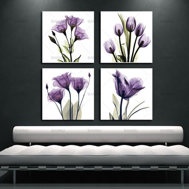 BANMU 4 Panel Canvas Print Wall Art Painting For Living Room Elegant ...