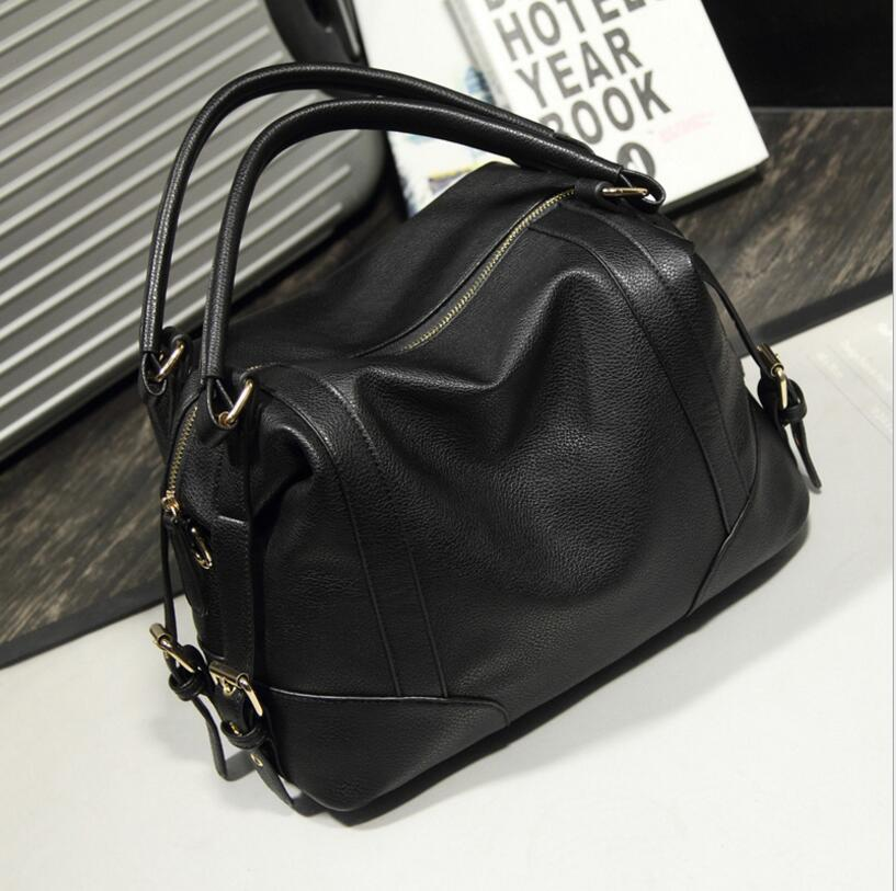 High Capacity Soft Casual PU Leather Female Handbag Fashion Women Shoulder Bags Daily Women Tote All Match Messenger Bag PT0131 cafe mystery 4
