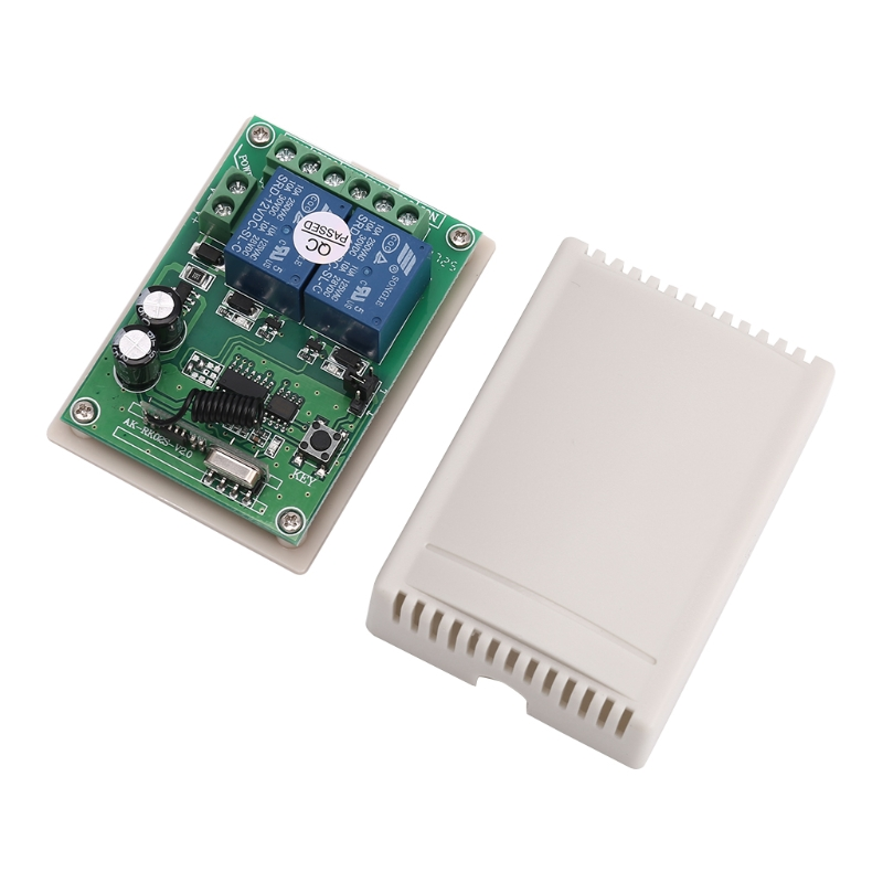 DC 12V 2 Channel RF 433MHz Wireless Remote Control Switch Relay Receiver Module