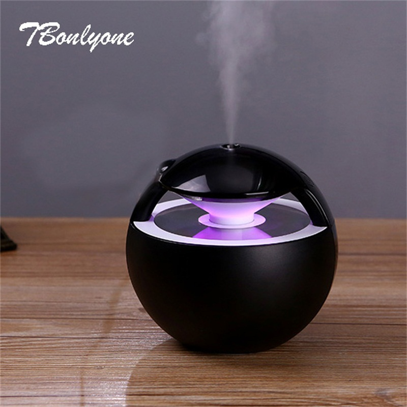 TBonlyone 450 mL bola humidificador con lámpara Aroma aceite esencial ultrasonido Aroma difusor eléctrico Mini USB humidificador de aire Fogger