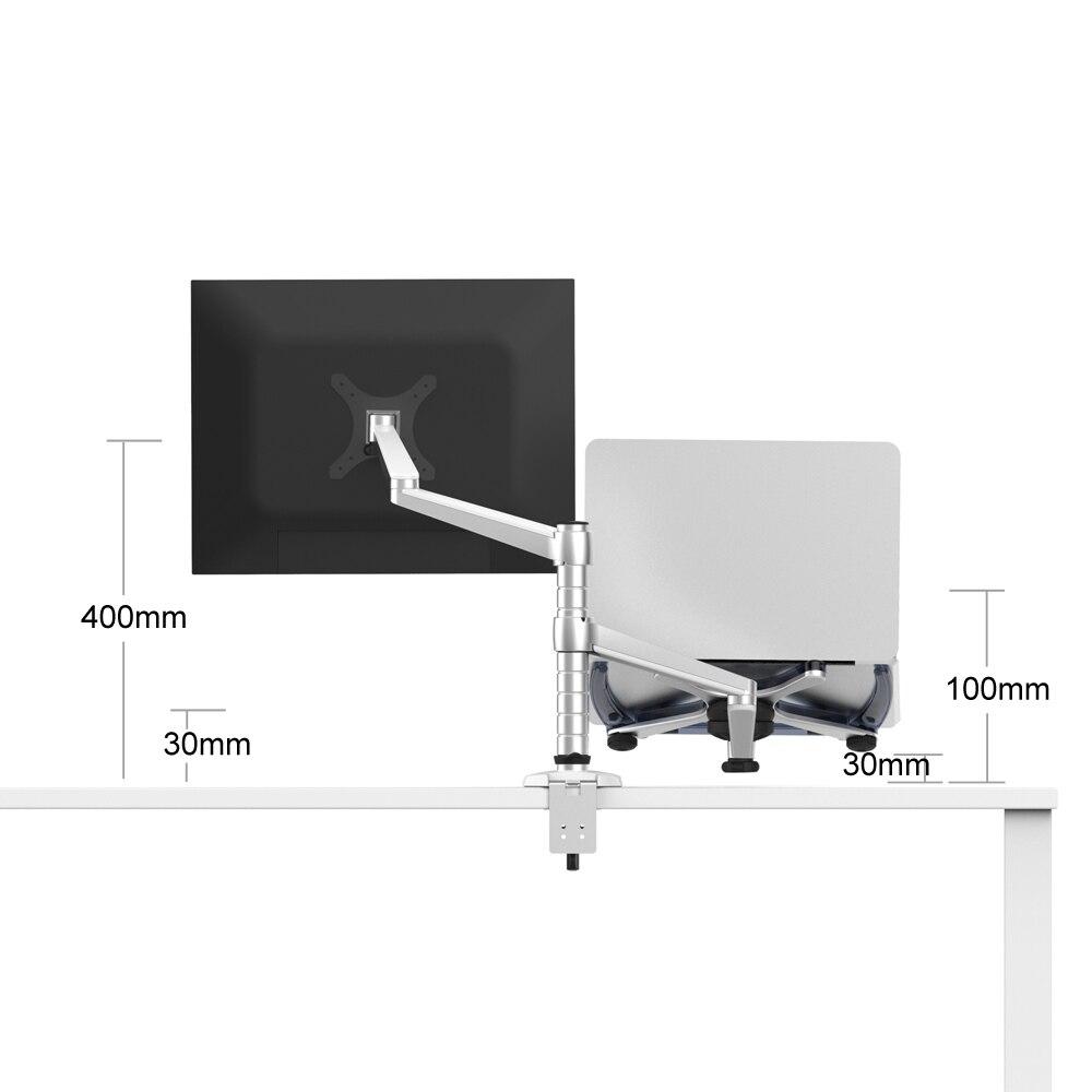 aluminum dual arm desktop monitor stand laptop holder stand table rh aliexpress com