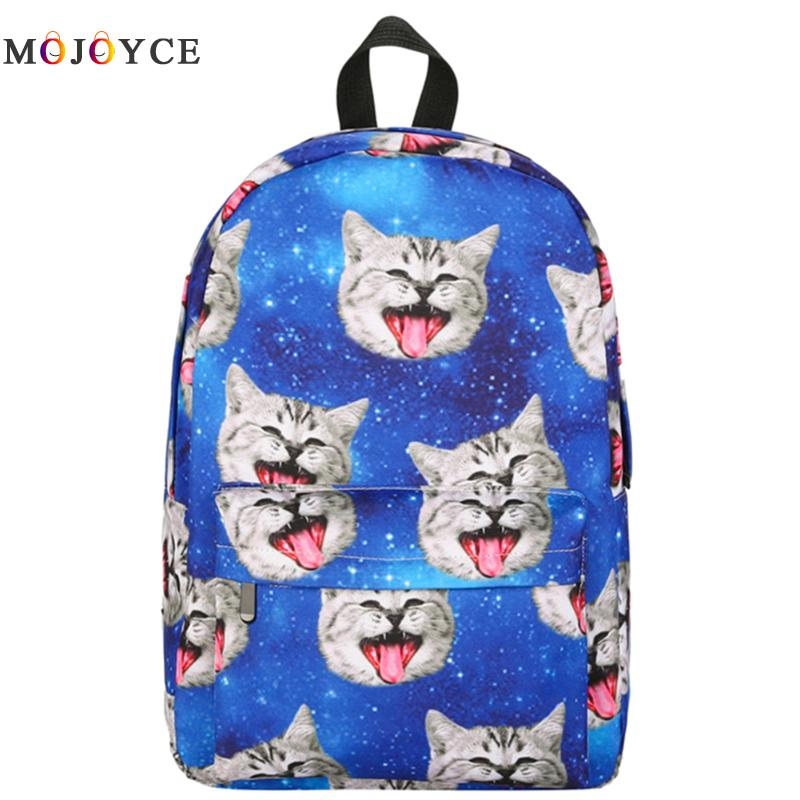 Women Animal Backpack 3D Printing Travel Softback Bag Mochila School Bags Cat Backpack Notebook For Girls Backpacks mochila forudesigns cute 3d dachshund dog casual shoulder backpack for women men student school bags travel backpacks laptop bag mochila
