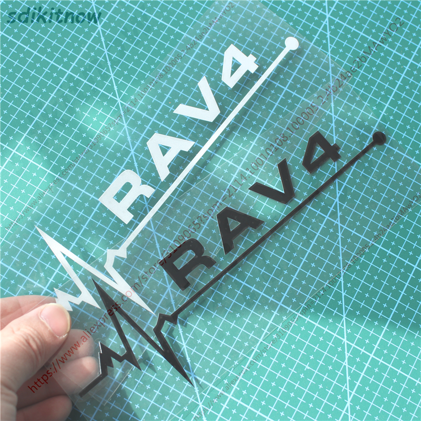 1pc New 7x20cm Heart Car Sports Decal Sticker Styling Windows Door Decoration For <font><b>TOYOTA</b></font> <font><b>RAV4</b></font> 2008 2013 2017 <font><b>2018</b></font> <font><b>accessories</b></font> image