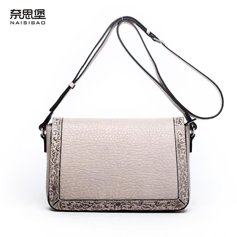 2017 New women genuine leather bag luxury handbags women bags designer fashion women shoulder Crossbody bag leather cowhide bag fashion leather handbags luxury head layer cowhide leather handbags women shoulder messenger bags bucket bag lady new style