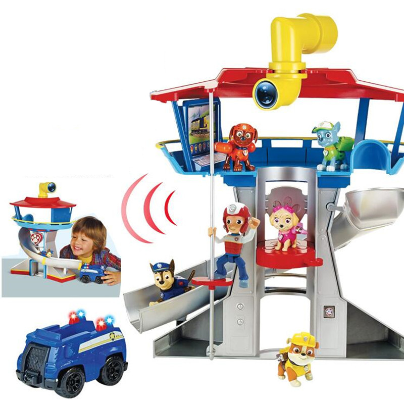 Paw Patrol Dog Action Figures Observatory Toys Patrulla Canina Juguetes Music Kids Children Toys
