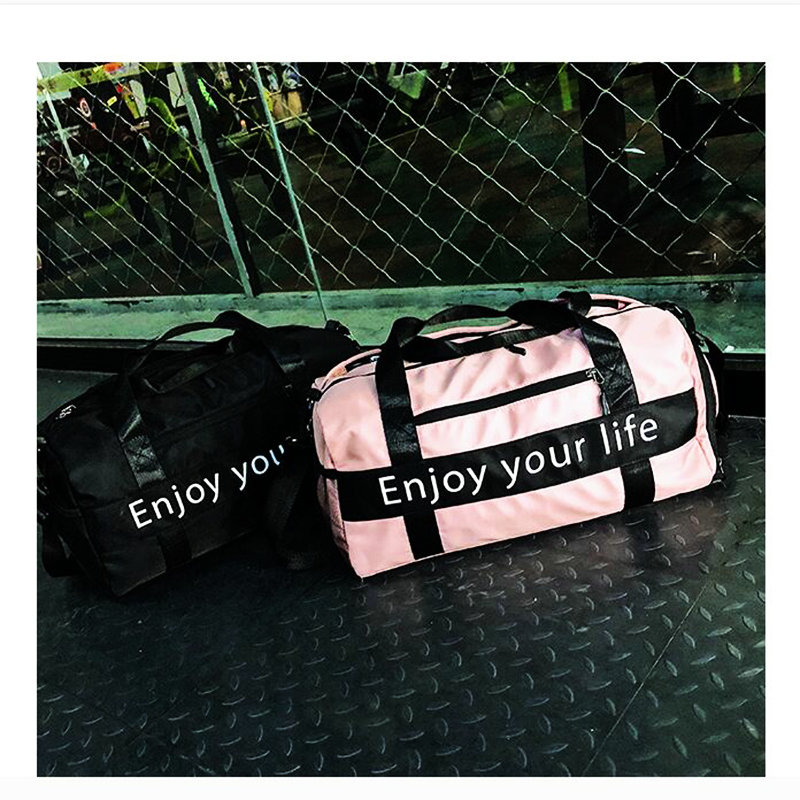 475906839314 2019 Women Pink Sports Bag Men Black Nylon Waterproof Gym Bag ...