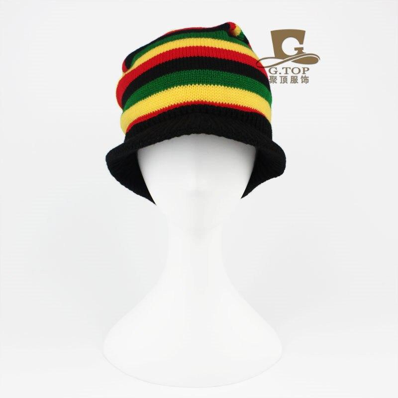 Visor de jamaica Reggae Rasta sombrero slouchy baggy sombrero traje ...