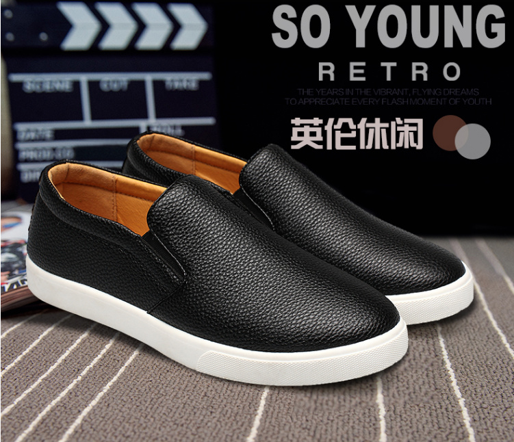 Large Size 2017 Brand Men's Flats men lazy loafers male Spring casual shoes Outdoor Summer Men pu Leather shoe For Man EDF12 new flat shoes men beach shoes male super lightweight breathable outdoor shoes spring and summer loafers flats b2036