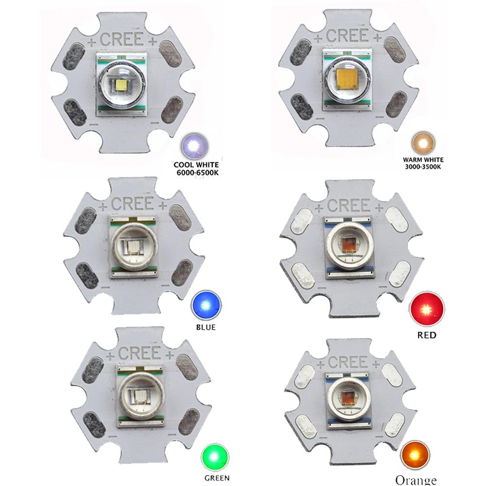 5pcs CREE XLamp XRE XR-E Q5 3W High Power LED Light Emitter Cool White / Warm White / Red / Green / Blue / Orange 16mm 20mm PCB mr16 cree q5 3w 1 led 160lumen
