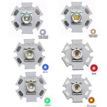 5pcs CREE XLamp XRE XR-E Q5 3W High Power LED Light Emitter Cool White / Warm White / Red / Green / Blue / Orange 16mm 20mm PCB