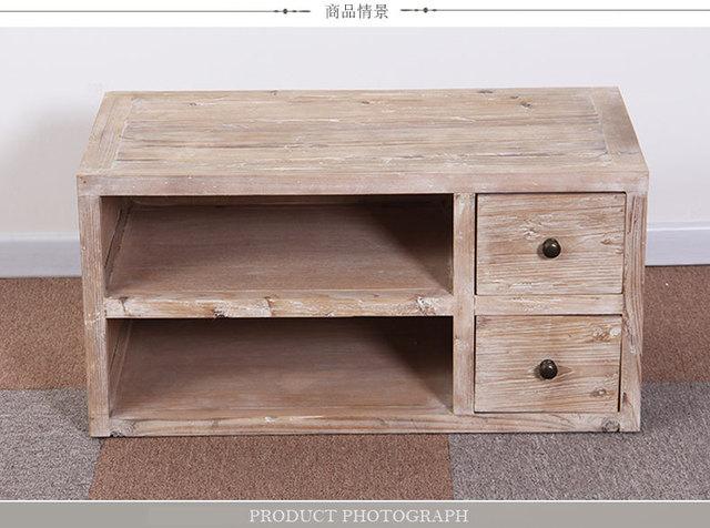 Pas de amrica para hacer el viejo retro TV madera mueble TV mesas