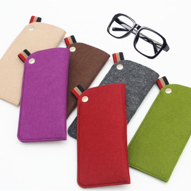 1 Pc Bunte Umwelt Freundliche Filz Taschen Gläser Taschen Tragbare Sonnenbrille Fällen Beutel Boxen Lagerung Brillen Zubehör Um Jeden Preis