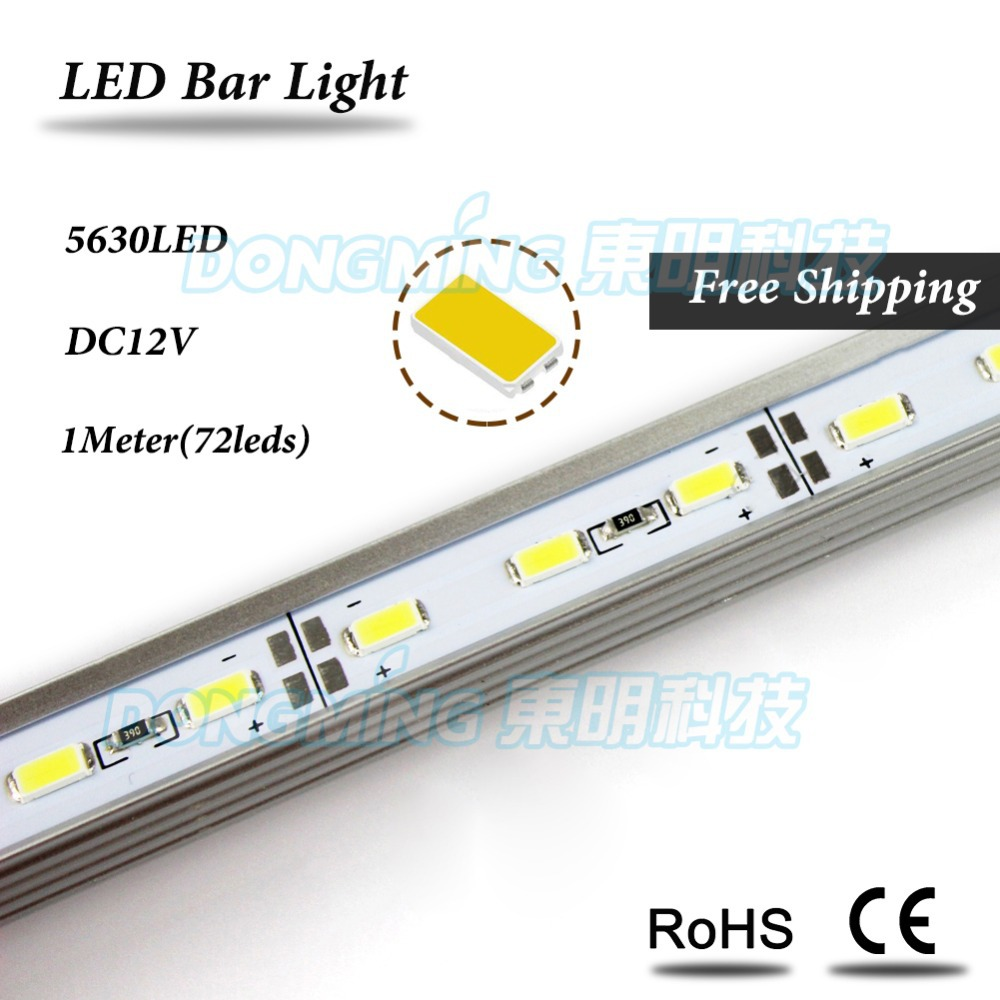 U/V Shape Aluminium Profile LED Luces Strip 5630 DC 12V