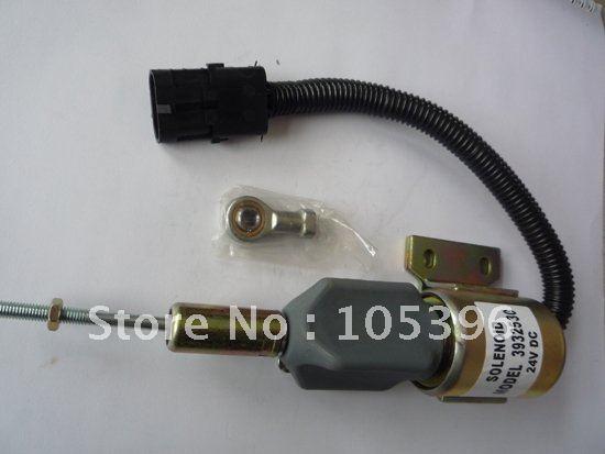 Flameout solenoid valve 3932530 24V+fast cheap shipping by FEDEX/DHL/UPS fuel shutdown solenoid valve 3932529 sa 4756 12 for engine 4b 6b fast cheap shipping by fedex dhl
