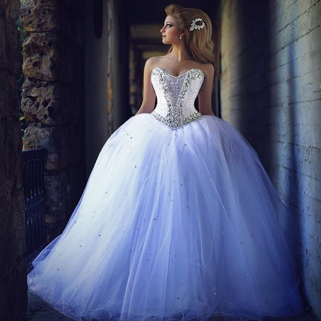 Wedding Ball Gowns Sweetheart Neckline: Sexy Arabia Bridal Dress With Sparkly Beading Rhinestone