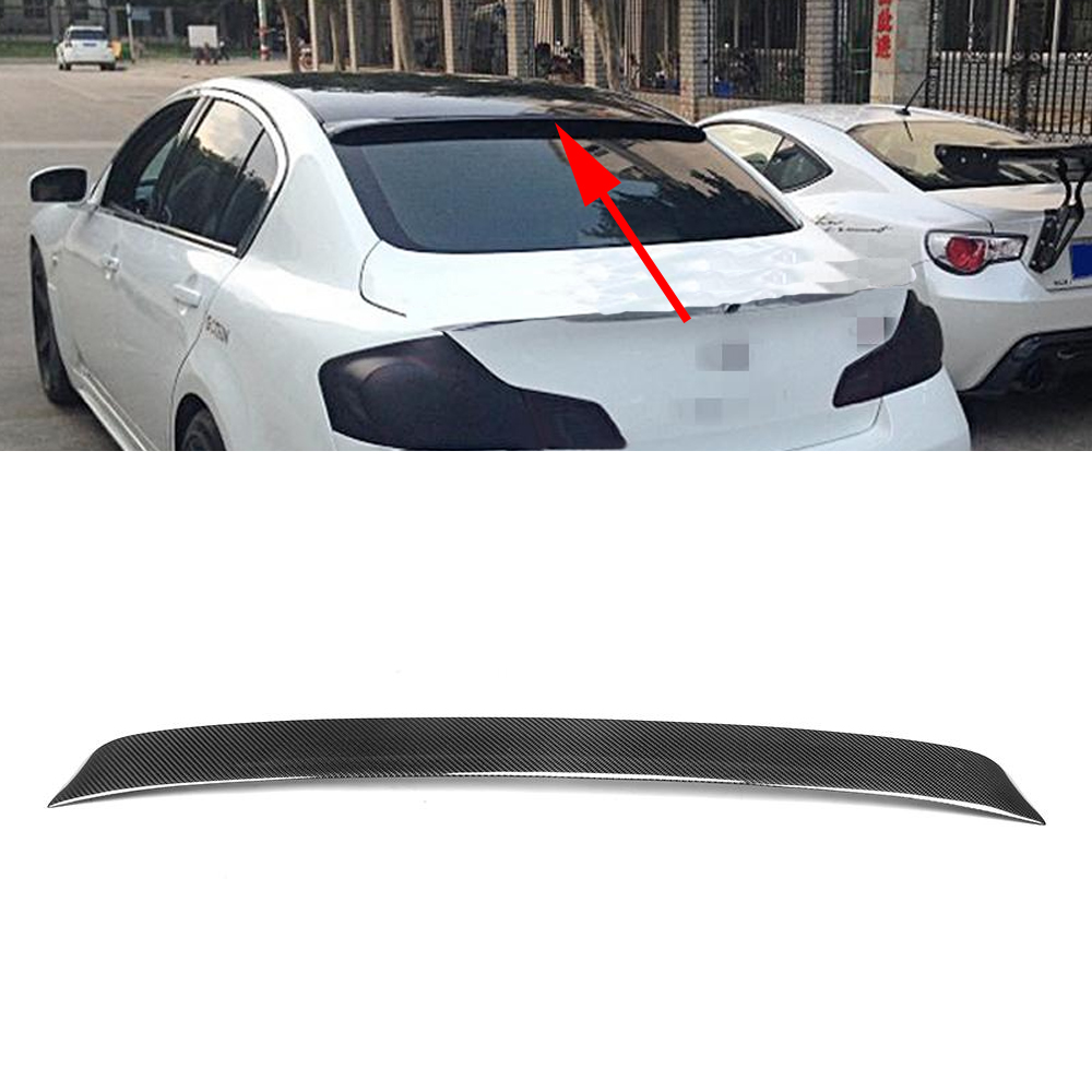 Carbon Fiber Car Rear Spoiler Rear roof wing spoiler for Infiniti G25 G35 G37 4 door 2006 - 2013