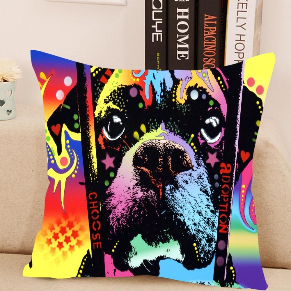 Lovely Dog Cushion Cover Creative Animal Lens Pillow For Living Room Bed Room 43x43cm