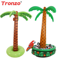 Tronzo Inflatable Toys 1.8m Inflatable Coconut Tree Toy Soft Plastic Swimming Decor Drinks Cooler Ice Bucket For Sandbeach Party