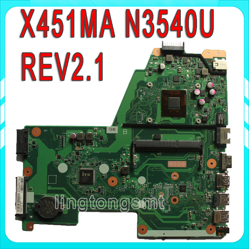 X451MA Original For ASUS Laptop motherboard X451MA REV2.1 N3540CPU mainboard 100% tested гарнитура jbl e55bt белый jble55btwht