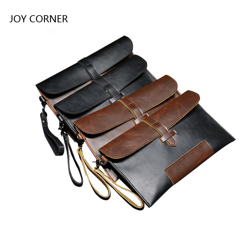 Mini Document Bag Leather Folder For Documents Business Leather File Folder JOY CORNER STORE Drop Shipping