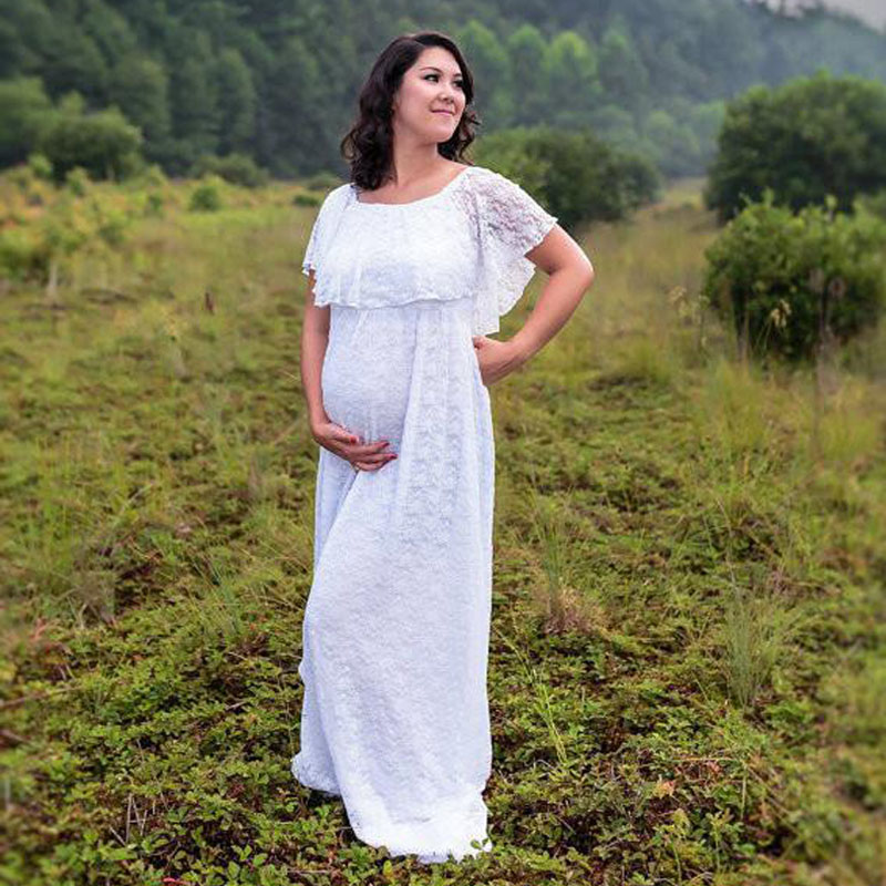 996f977169f65 Maternity Photography Props Clothes For Pregnant Women Lace Shoulderless  Tailed Maternity Dress For Photo Shoot Pregnancy Dress-in Dresses from  Mother ...