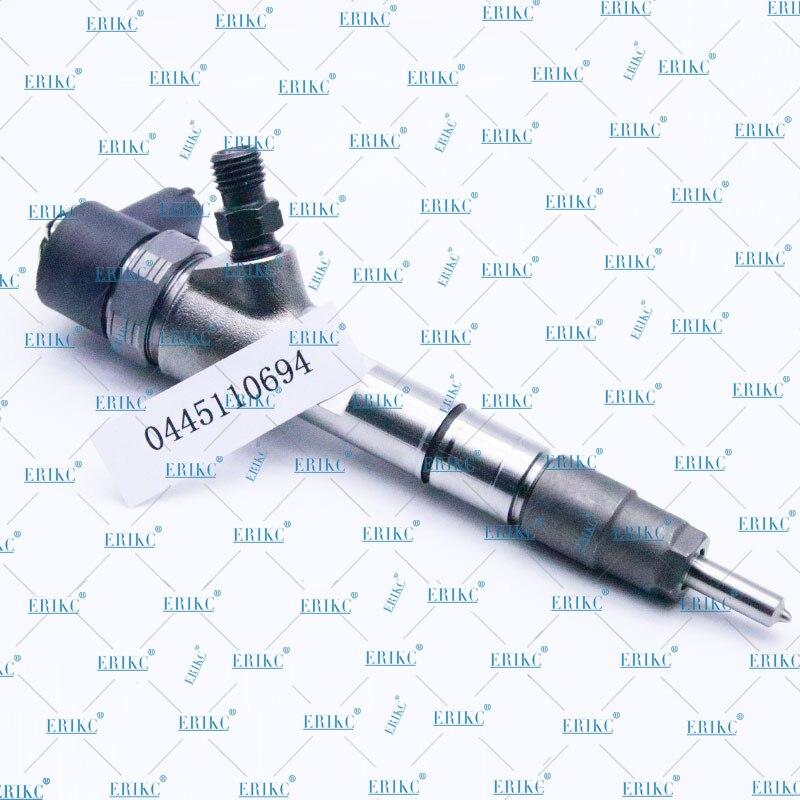 Erikc injector assy combustível 0445110694 peças automotivas injetores de combustível 0445 110 694 bocal de injeção de trilho comum 0 445 110 694