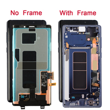 Super AMOLED Mobile Phone LCD For SAMSUNG GALAXY Note 9 Display Touch Screen Digitizer Assembly Frame