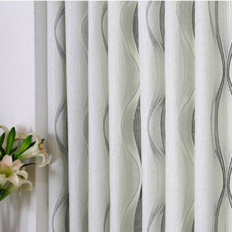 The New Modern Living Room Curtains Window Screening Light Grey