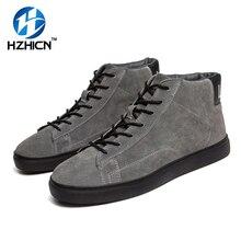 Haute Qualité Élégant Hommes Courtes Bottes Haute Véritable Chaussures En Cuir De Mode Chaud Hommes à lacets Oxford Hiver Unisexe Bottes 3 Couleurs