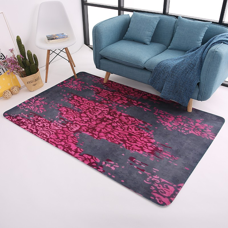 Tapis de Sentiment rouge moderne pour salon maison tapis chauds chambre décor tapis/tapis table basse canapé Rectangle tapis de sol