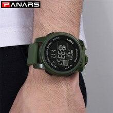 PANARS Reloj Hombre водостойкие цифровые наручные часы модные брендовые Роскошные Двойное время мужские часы студенты спортивные часы