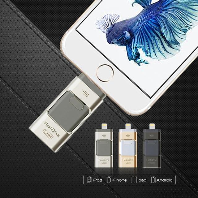 For iPhone6 Plus 6 5S USB Pen drive HD memoria stick Dual purpose iOS Android mobile OTG Micro USB Flash Drive 16 GB 32 GB 64 GB