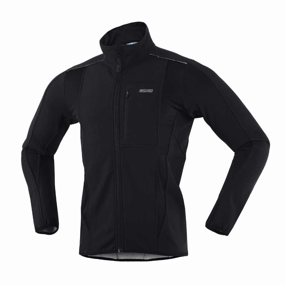 ARSUXEO велосипедная Куртка зимняя теплая велосипедная одежда ветрозащитная Водонепроницаемая велосипедная дождевик MTB велосипед Джерси Ropa Ciclismo
