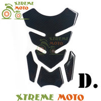 Black Carbon Fiber Motorcycle Fishbone Decal Gas Tank Pad Protector Sticker For Honda CBR Suzuki GSX
