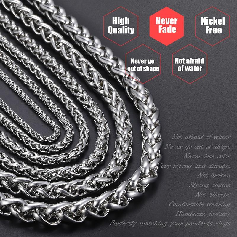 Personalizate colier din oțel inoxidabil 3-10 mm din oțel - Bijuterii de moda - Fotografie 2