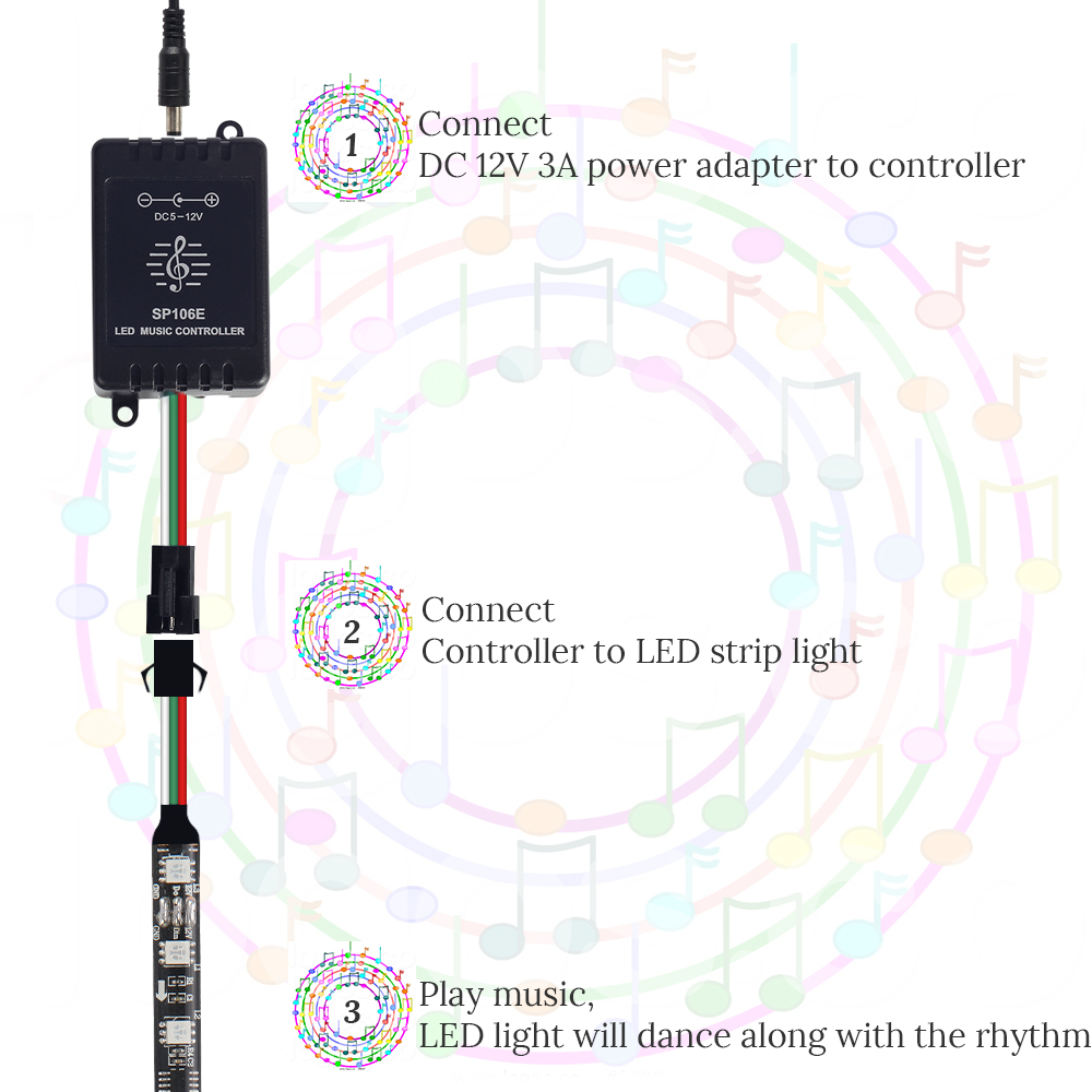 5m ws2811 digital led strip 12v dream color 30leds 60leds rgb led outdoor led wiring diagram [ 1000 x 1000 Pixel ]