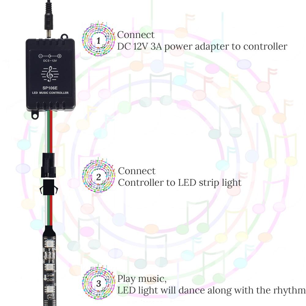medium resolution of 5m ws2811 digital led strip 12v dream color 30leds 60leds rgb led outdoor led wiring diagram