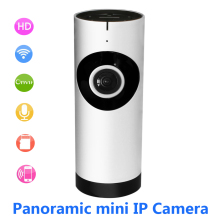180 Degree Fisheye Panoramic Camera HD 720P Wireless WIFI IP Camera Home Security Surveillance Camera System ONVIF Webcam Audio