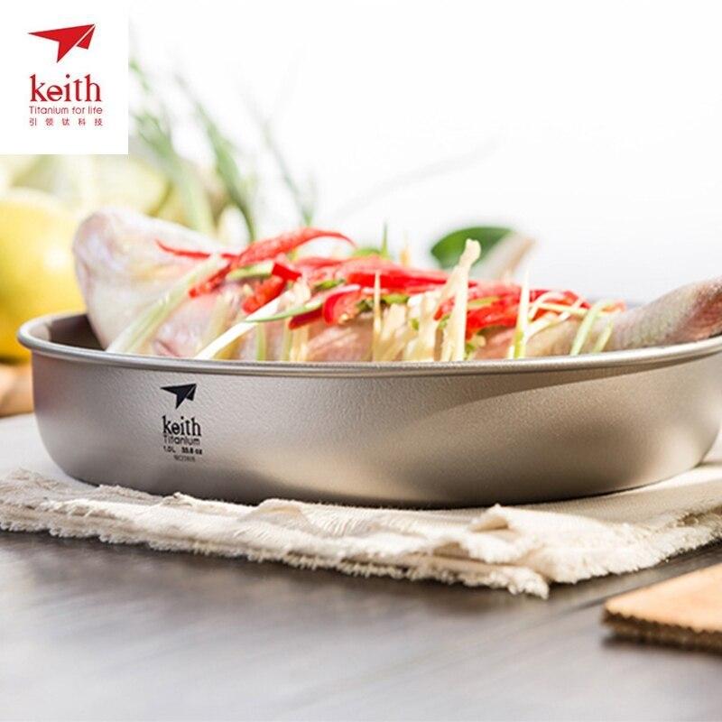 Keith titane plat à dîner assiette riz salade nouilles bol extérieur voyage pique-nique vaisselle vaisselle vaisselle 1L Ti8702