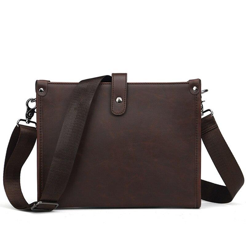 Vintage Men Briefcase Crazy Horse Leather Shoulder Bags Luxury Messenger Bag Laptop Computer Bag Business Office Travel Ipad Bag