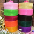 40mm 50 Yard/Rolls 45M Pretty Silk Organza Double Face Transparent Ribbon For Wedding Party Decoration Crafts Gift Packing Belt