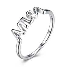 Fashion 925 Pray AMEN Ring Silver Color Plated Finger Ring Fine Jesus Christ Accessorise Jewelry for Women Men Prayer Lucky Gift