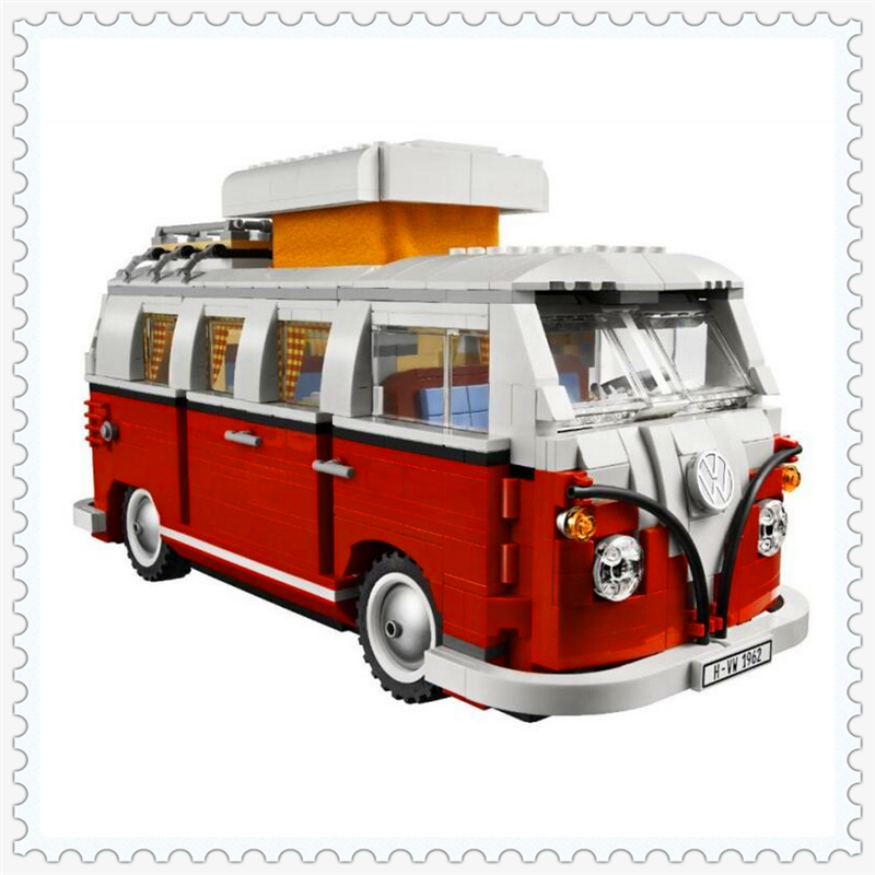 1352Pcs Creator Volkswagen T1 Camper Van Building Block Toys LEPIN 21001 DIY Educational Gift For Children Compatible Legoe lepin 01018 snow queen princess anna elsa building block 515pcs diy educational toys for children compatible legoe