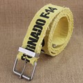 3.7cm yellow printting  Canvas Waist Belt