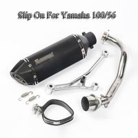 Slip On Motorcycle Exhaust Muffler Pipe Front Link Pipe Exhaust System Pipe With Bracket For Yamaha 100/56 Motorbike Modified